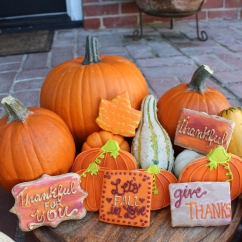 Fall/Thanksgiving Sugar Cookies