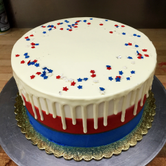 Fourth of July Drip Cake