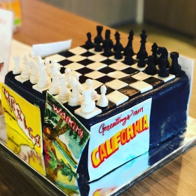 For The Love of Chess and Travel Birthday Cake