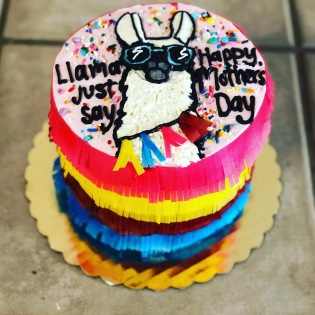 Llama Mother's Day Cake