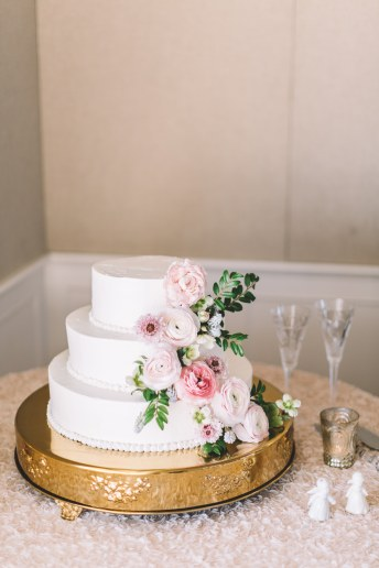 Buttercream and Floral Wedding Cake