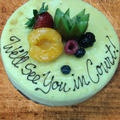 Standard Cheesecake with Custom Message