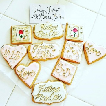 Bridal Shower Sugar Cookies with Royal Icing