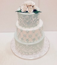 Hand Piped Tiered Cake