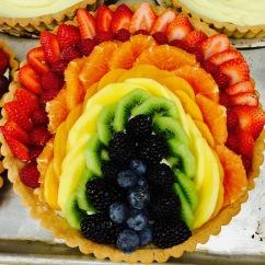 """8"""" Rainbow Inspired Fresh Fruit Tart"""