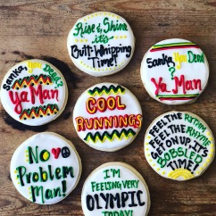 Custom Cool Runnings Cookies with Royal ICing
