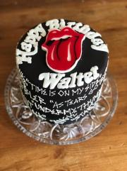 Rolling Stones Birthday Cake