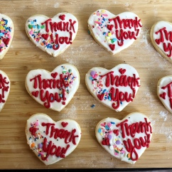 Thank you Cookies with Royal Icing