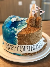 Surf's Up Beach Birthday Cake