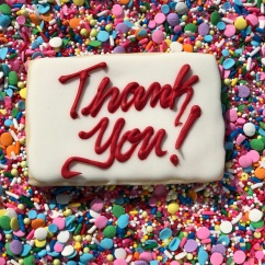 Thank You Sugar Cookies with Royal Icing