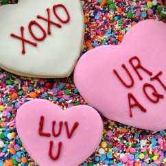 Valentine's Day Sugar Cookies with Royal Icing