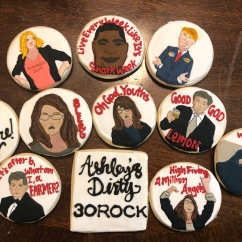 Custom 30 Rock Cookies with Royal Icing for 30th Birthday