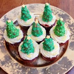 Christmas Tree Cupcakes- Large Size