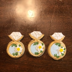 Bridal Shower Ring Cookies with Royal Icing