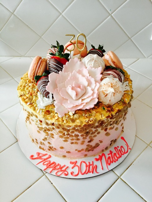 Custom 30th Birthday Cake