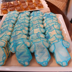 Tie Dye Onesie Cookies with Royal Icing