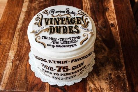Vintage Dude Birthday Cake